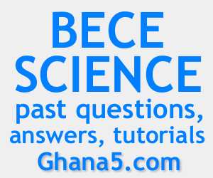 Link to Waec BECE Integrated Science past questions, answers, revision notes